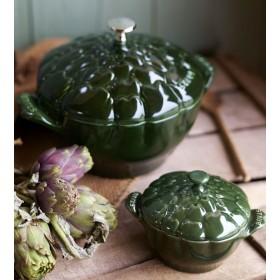 """Кокот """"Артишок"""" 22 см, 3 л, зеленый базилик"""