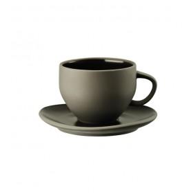 Чашка для капучино с блюдцем Junto Slate Grey 330 мл