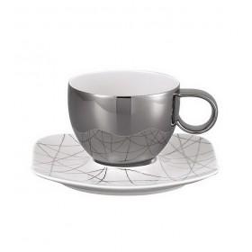 Чашка для капучино с блюдцем Free Spirit Stars 290 мл