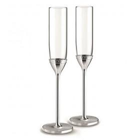 Набор бокалов для шампанского Vera Wang With Love Nouveau Silver