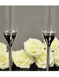 Набор бокалов для шампанского Vera Wang With Love Nouveau Silver, 2 шт