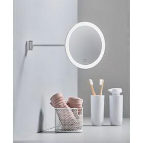 Зеркало настенное с подсветкой 26 см, белое