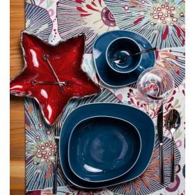 Чаша декоративная Stella Red 28х4 см