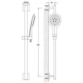 Комплект для душа без смесителя Series 120 120.1621