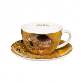 """Чашка чайная 250 мл с блюдцем Goebel """"Поцелуй"""""""