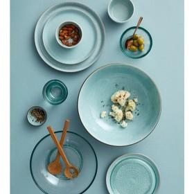 Тарелка салатная Bitz 21 см, серая/голубая
