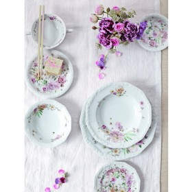 Тарелка салатная Maria Pink Rose 21 см