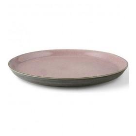 Тарелка столовая Bitz 27 см, серая/розовая