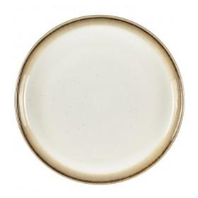 Тарелка столовая Bitz 27 см, серая/кремовая