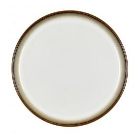 Тарелка салатная Bitz 21 см, серая/кремовая