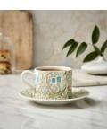 Чашка чайная Morris & Co 280 мл с блюдцем, декор терновник