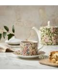 Чашка чайная Morris & Co 280 мл с блюдцем, декор золотая лилия