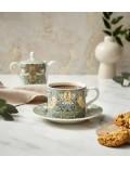 Чашка чайная Morris & Co 280 мл с блюдцем, декор клубничный вор