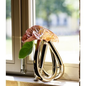Ваза Triu 22 см, цвет золото
