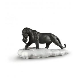 """Статуэтка """"Черная пантера с детенышем"""" 25х48х25 см"""