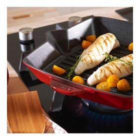 Сковорода-гриль квадратная Grills 30х30 см, цвет вишневый
