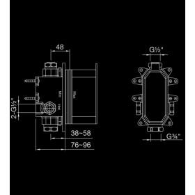 Внутренняя часть смесителя для ванны/душа Steinbox 010.2110