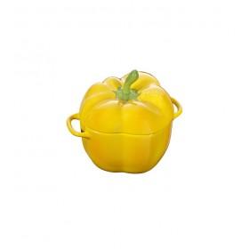 """Кокот керамический """"Перец"""" Staub 12 см, цвет желтый"""