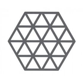 Подставка под горячее Triangles Grey, 14х16 см.