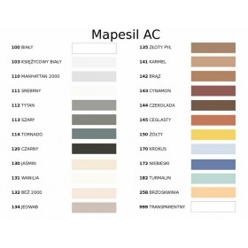 Силикон Mapesil AC N110, серебряно-серый
