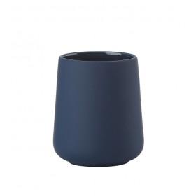 Стакан-подставка для зубных щеток 10 см, цвет синий