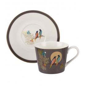 Чашка чайная с блюдцем Chelsea Collection 200 мл, цвет темно-серый