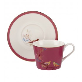 Чашка чайная с блюдцем Chelsea Collection 200 мл, цвет розовый