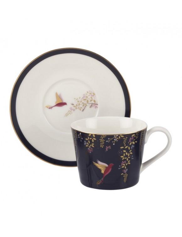 Чашка чайная с блюдцем Chelsea Collection 200 мл, цвет синий