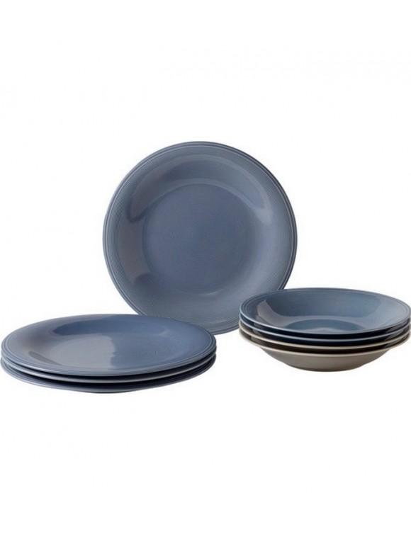 Набор столовой посуды Color Loop Horizon на 4 персоны, 8 предметов