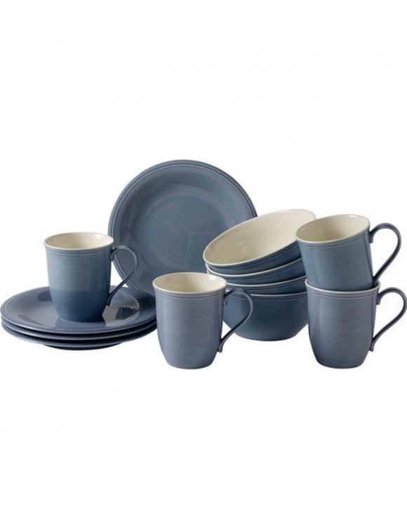 Сервиз для завтрака Color Loop Horizon на 4 персоны, 12 предметов
