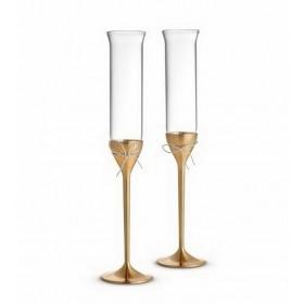 Набор бокалов для шампанского Vera Wang Love Knots Gold, 2 шт.