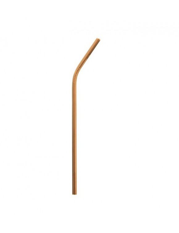 Стальная трубочка 21,5 см, цвет медь