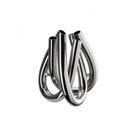 Ваза Triu 22 см, цвет серебро