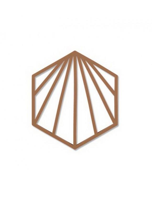Подставка под горячее Trivet Shell 16х14 см, цвет корица