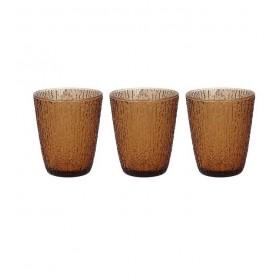 Набор из 3 стаканов GLASS Ambra 280 мл, цвет коричневый