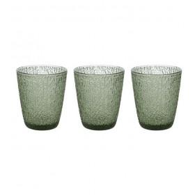 Набор из 3 стаканов GLASS Verde 280 мл, цвет зелёный