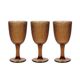 Набор из 3 бокалов GLASS Ambra 250 мл, цвет коричневый