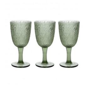 Набор из 3 бокалов GLASS Verde 250 мл, цвет зелёный