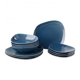 Набор столовой посуды Organic Turquoise на 4 персоны, 12 предметов