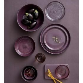 Салатник Bitz 24 см, чёрный/фиолетовый