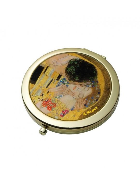 """Зеркало карманное стеклянное в рамке """"Поцелуй"""" 7,5 см"""
