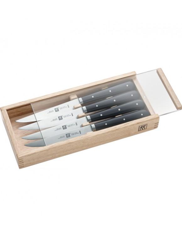 Набор ножей для стейка Steak Knife в деревянной коробке, 4 предмета