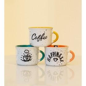 Чашка кофейная Happy 90 мл, цвет желтый