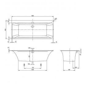 Ванна Squaro Edge 12 UBQ180SQE2DV-RW