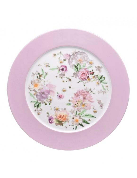 Блюдо сервировочное Maria Pink Rose 33 см