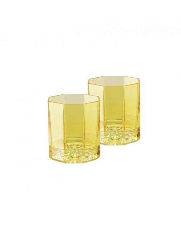 Набор бокалов для виски Medusa Lumiere Rhapsody 170 мл, желтый