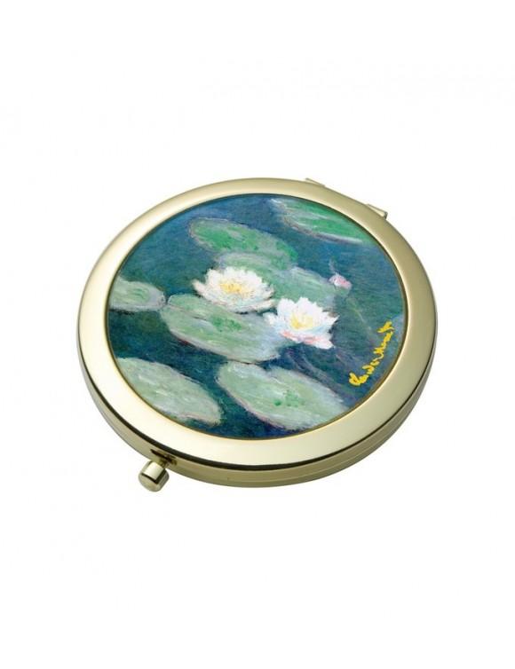 """Зеркало карманное """"Водяные лилии"""" 7,5 см"""