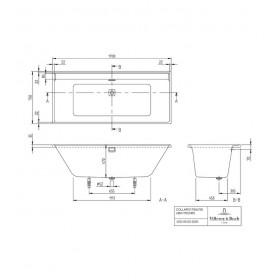 Ванна Collaro UBA170COR2DV-01