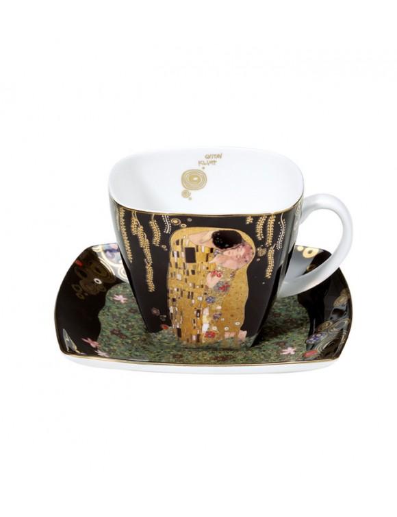 """Чашка кофейная с блюдцем  Goebel """"Поцелуй"""", 250 мл"""