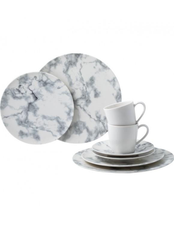 Набор столовой посуды Marmory на 2 персоны, 8 предметов, цвет белый